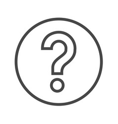 Question mark thin line icon vector