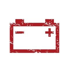 Red grunge accumulator logo vector image