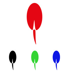 Seed root icon vector