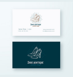 shoe boutique abstract logo and business vector image
