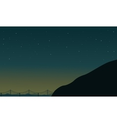 Silhouette of mountain on bridge backgrounds vector
