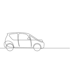smart car continuous line graphic vector image