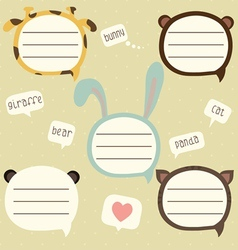 Speech bubble set for kids vector