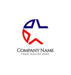 Star company logo template design vector