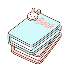 The books are piled up vector