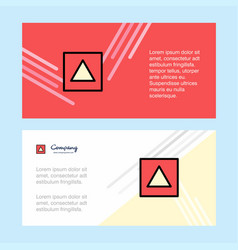 traingle shape abstract corporate business banner vector image