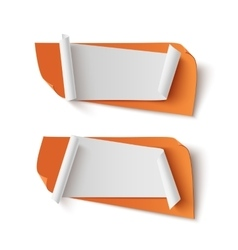 Two orange abstract blank banners vector