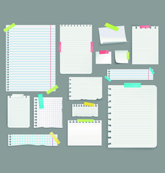 variety paper documents set vector image