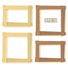 Wooden frames set picture vector image