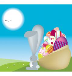 bunny sack vector image vector image