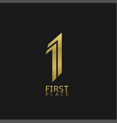 first place sign vector image vector image