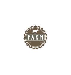 farm cow organic logo vector image