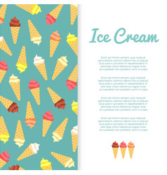flat ice cream banner design vector image