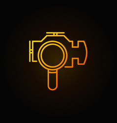 Magnifying glass with check engine icon vector