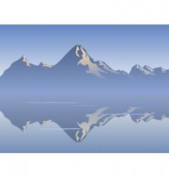 morning reflection vector image