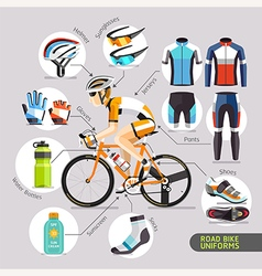 Road Bike Uniforms vector image