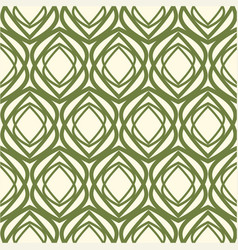White and green kaleidoscope seamless pattern vector