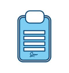 board signature document vector image
