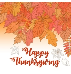 Happy Thanksgiving Day 2 vector image