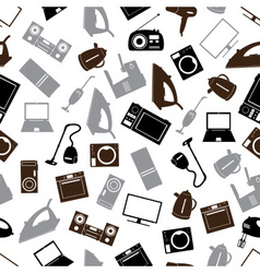 home electrical appliances gray pattern eps10 vector image