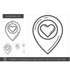 lovely place line icon vector image