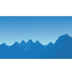 Silhouette of many mountain vector