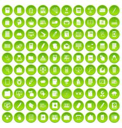 100 folder icons set green circle vector