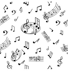 18b1-01 wonderful musical note pattern vector image