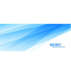 Abstract blue banner with transparent lines effect vector