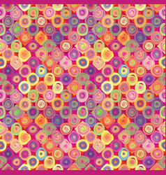abstract funny bubble seamless pattern funny vector image