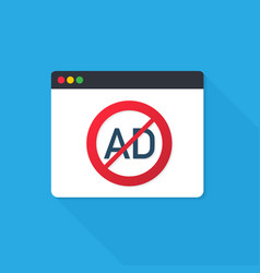Ad block popup website sign symbol vector