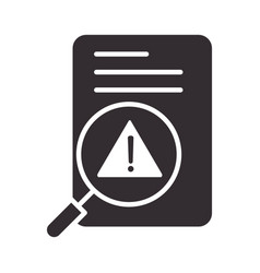 alert icon data analysis warning attention vector image