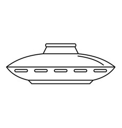 alien ship icon outline style vector image