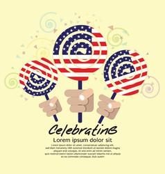 America Flag Lollipop Festival Concept EPS10 vector image