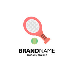 ball racket tennis sport business logo template vector image