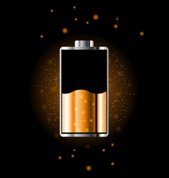 battery charge status with lighting vector image