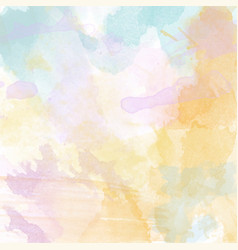 Beautiful hand painted watercolor background vector