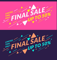 Best sale banner original poster for discount vector