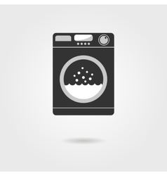 black washing machine with shadow vector image