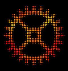 bright dot clock gear icon vector image