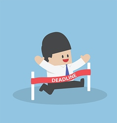 Businessman crossing the deadline vector image