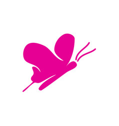 butterfly fly logo design template icon isolated vector image