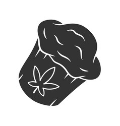 Cannabis cupcake color icon weed muffin homemade vector