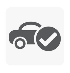 Car center icon vector