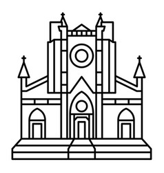 catholic temple icon outline style vector image