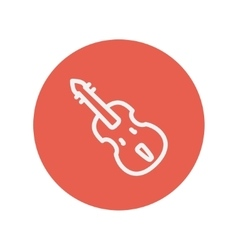 Cello thin line icon vector image