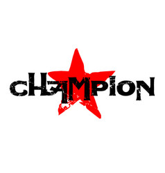 Champion sticker stamp vector