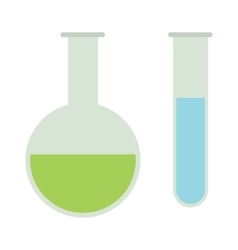 Chemical flasks equipment - test tube empty vector image