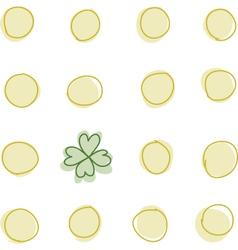 Coins and a 4 leaf clover vector