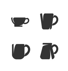 Cups and mugs vector image